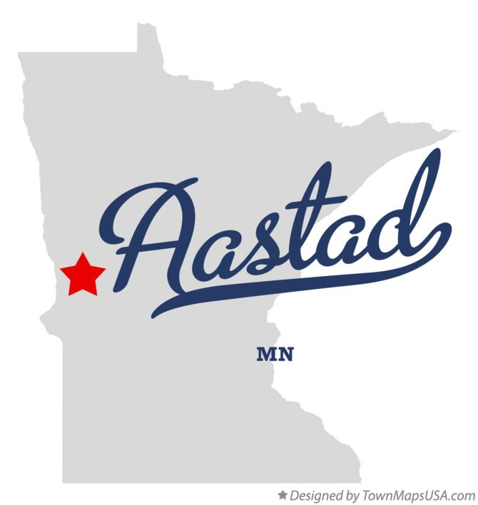 Map of Aastad Minnesota MN