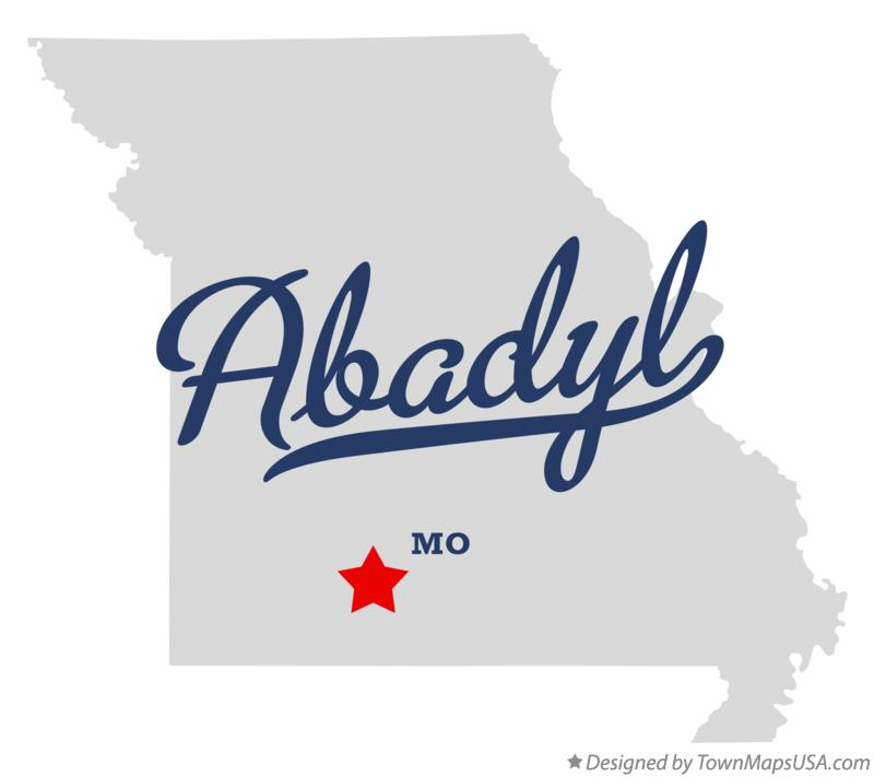 Map of Abadyl Missouri MO