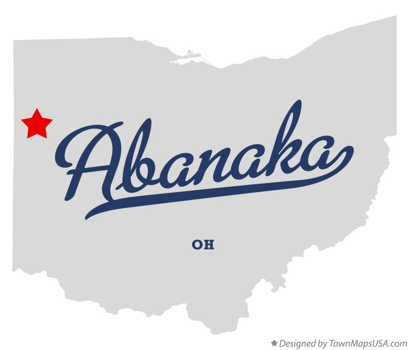 Map of Abanaka Ohio OH