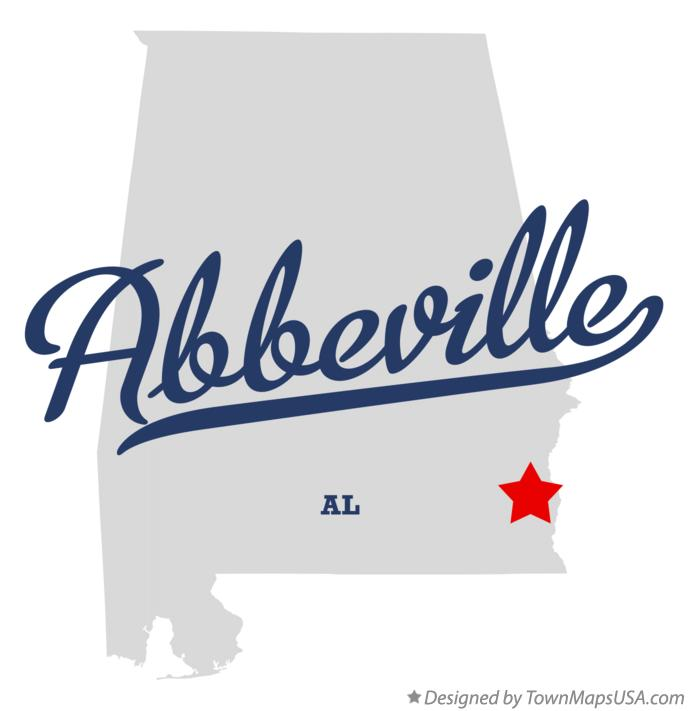 Map of Abbeville Alabama AL