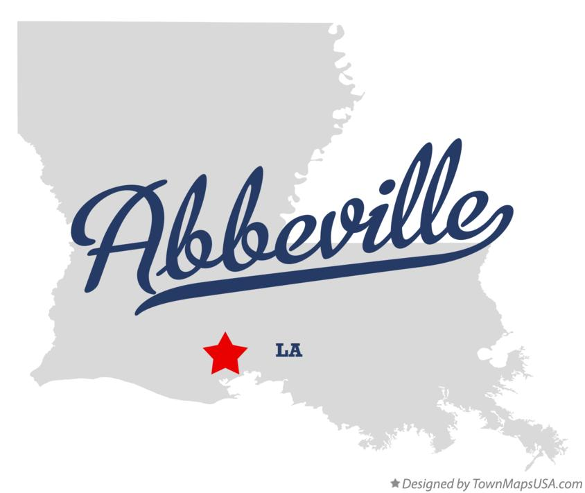 Map of Abbeville Louisiana LA