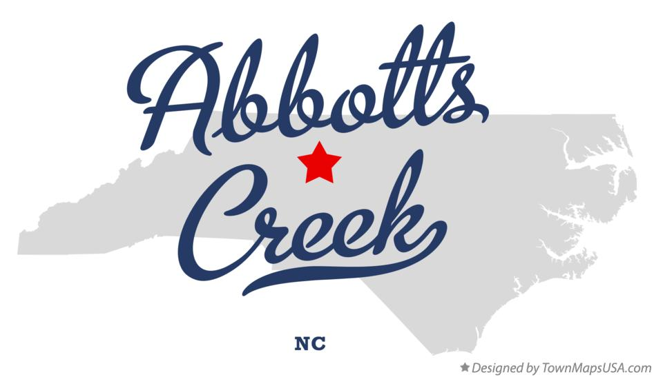 Map of Abbotts Creek North Carolina NC