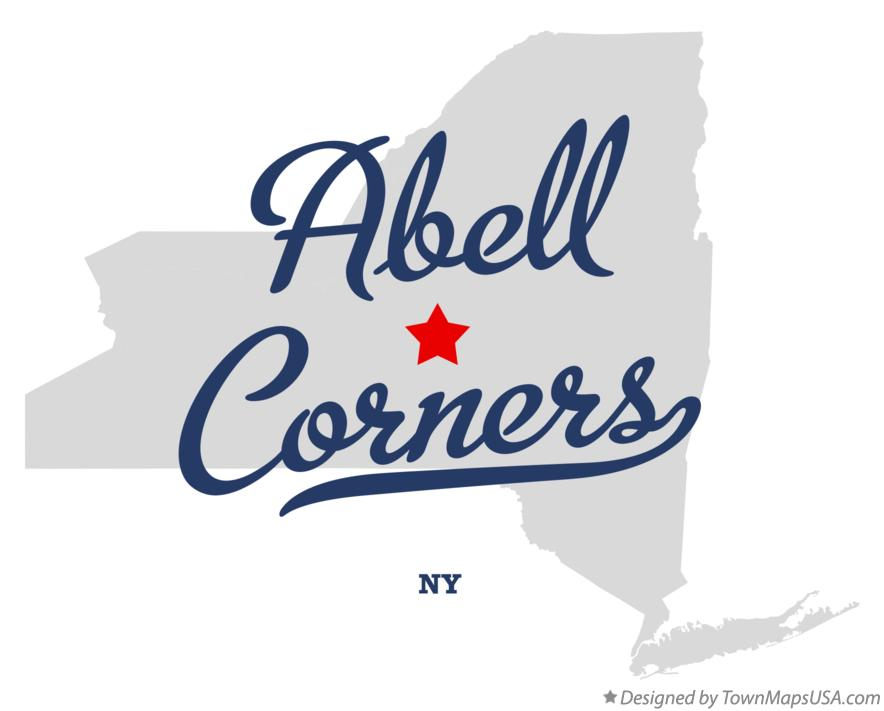Map of Abell Corners New York NY