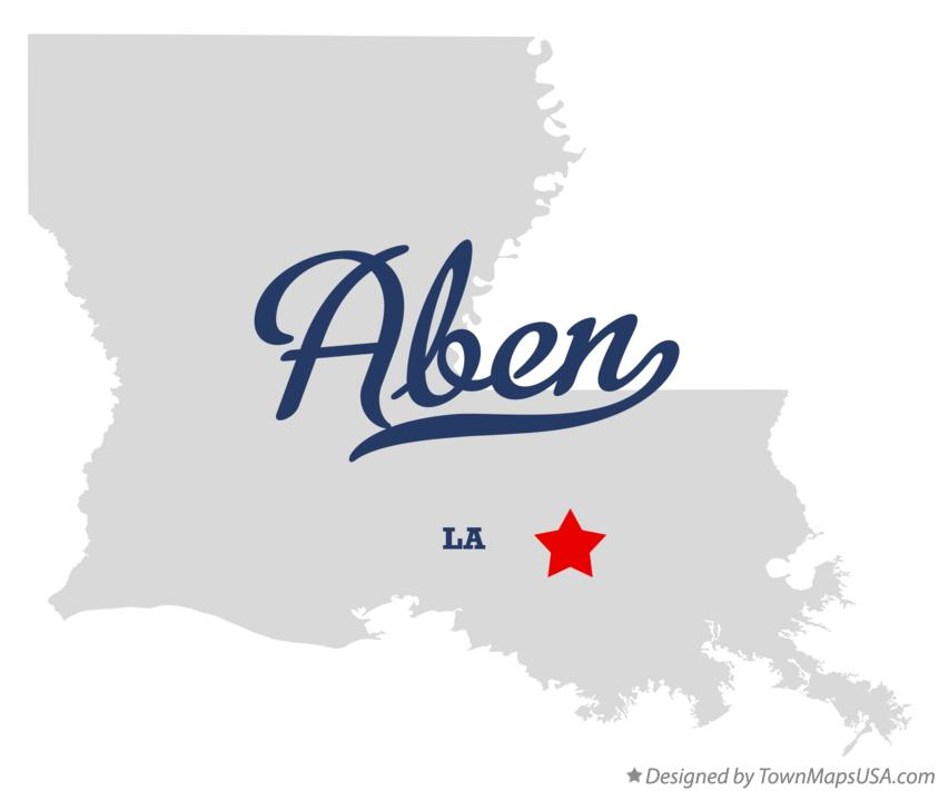 Map of Aben Louisiana LA