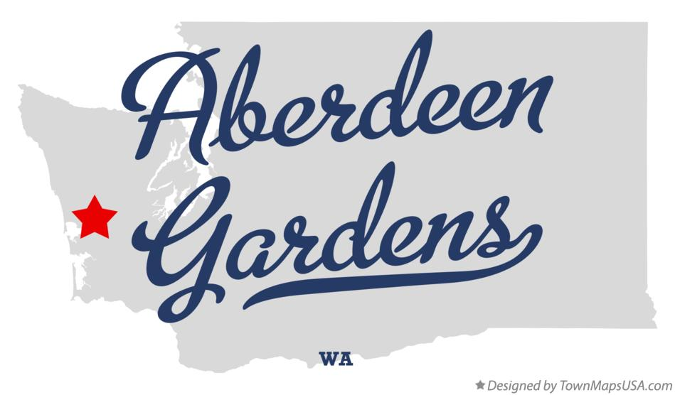 Map of Aberdeen Gardens Washington WA