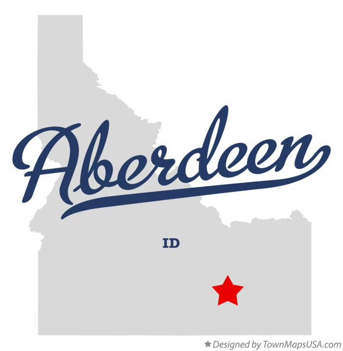 Map of Aberdeen Idaho ID