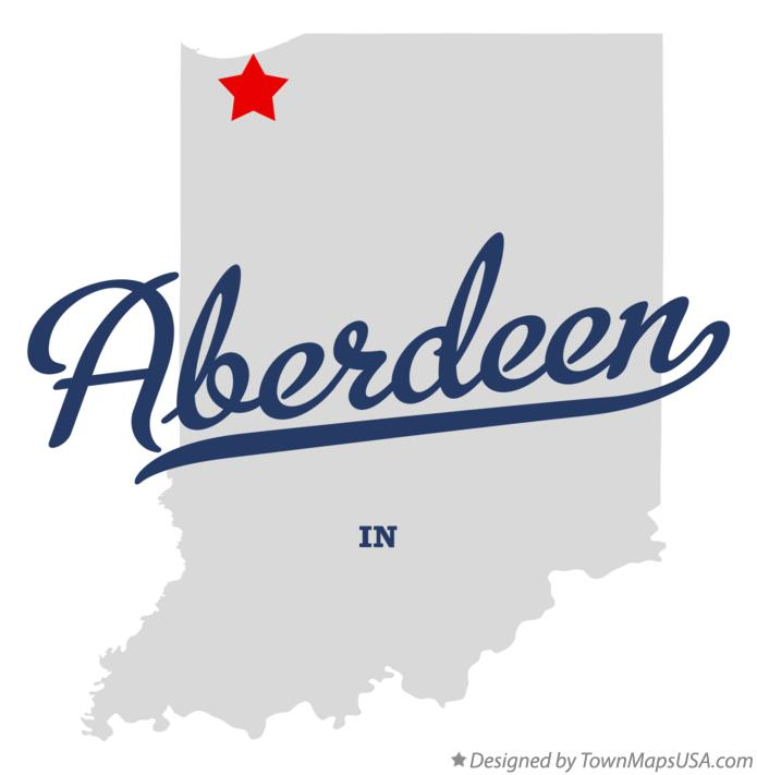 Map of Aberdeen Indiana IN
