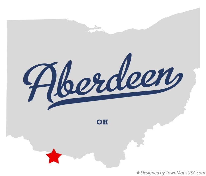 Map of Aberdeen Ohio OH