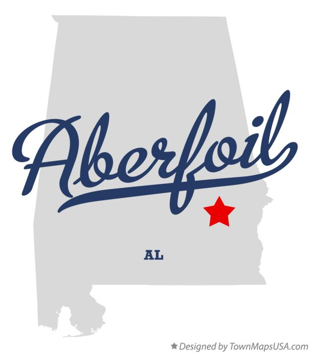 Map of Aberfoil Alabama AL