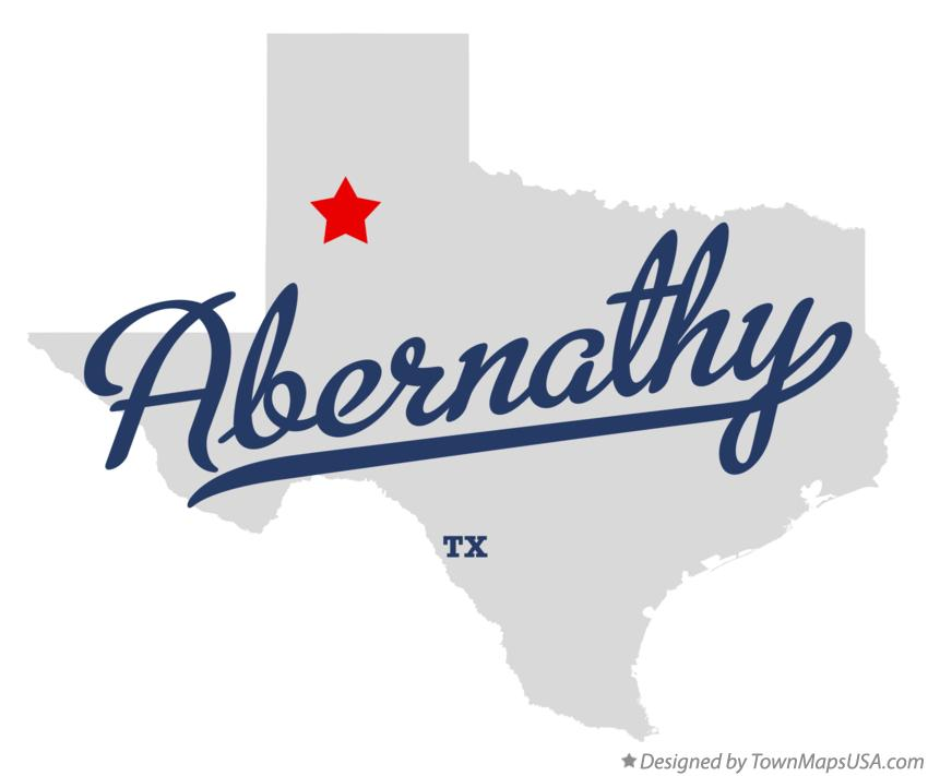Map of Abernathy Texas TX