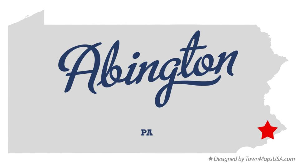 Map of Abington Pennsylvania PA