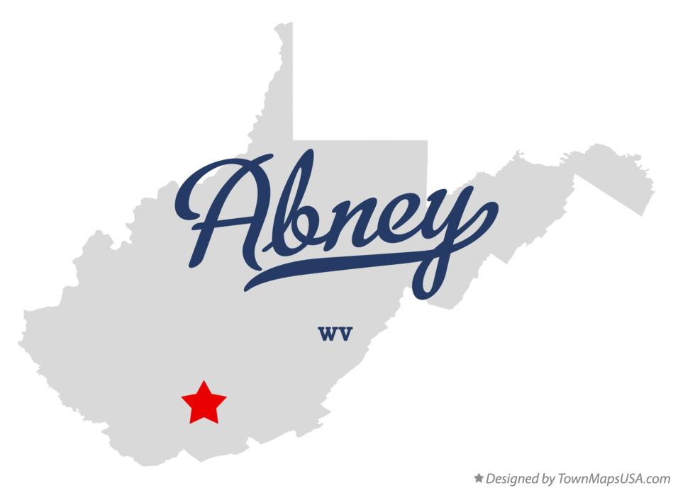 Map of Abney West Virginia WV