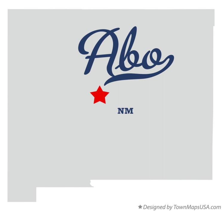 Map of Abo New Mexico NM