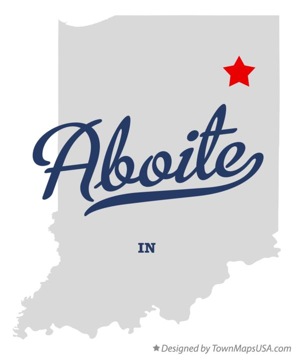 Map of Aboite Indiana IN