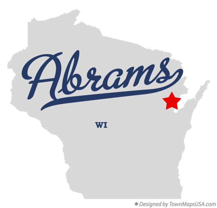 Map of Abrams Wisconsin WI