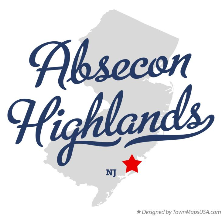 Map of Absecon Highlands New Jersey NJ