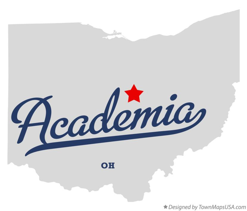 Map of Academia Ohio OH
