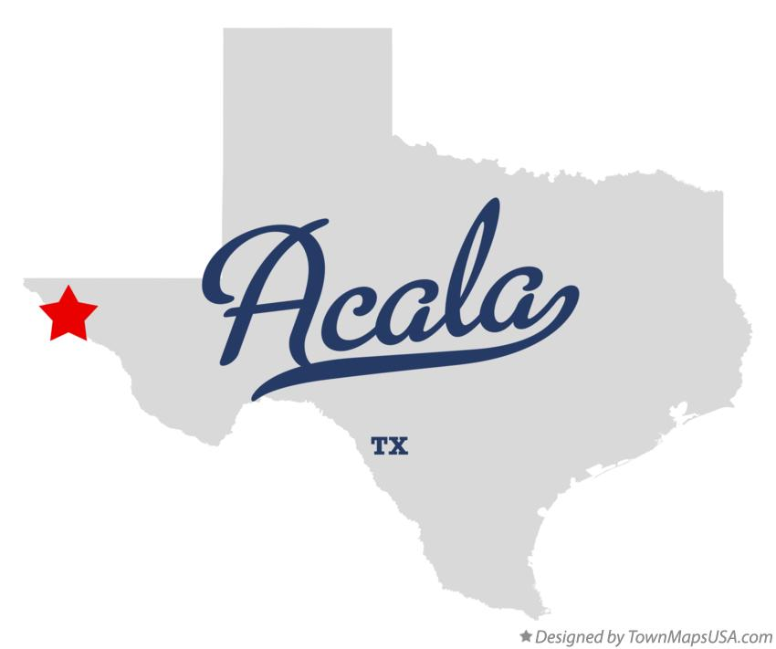 Map of Acala Texas TX