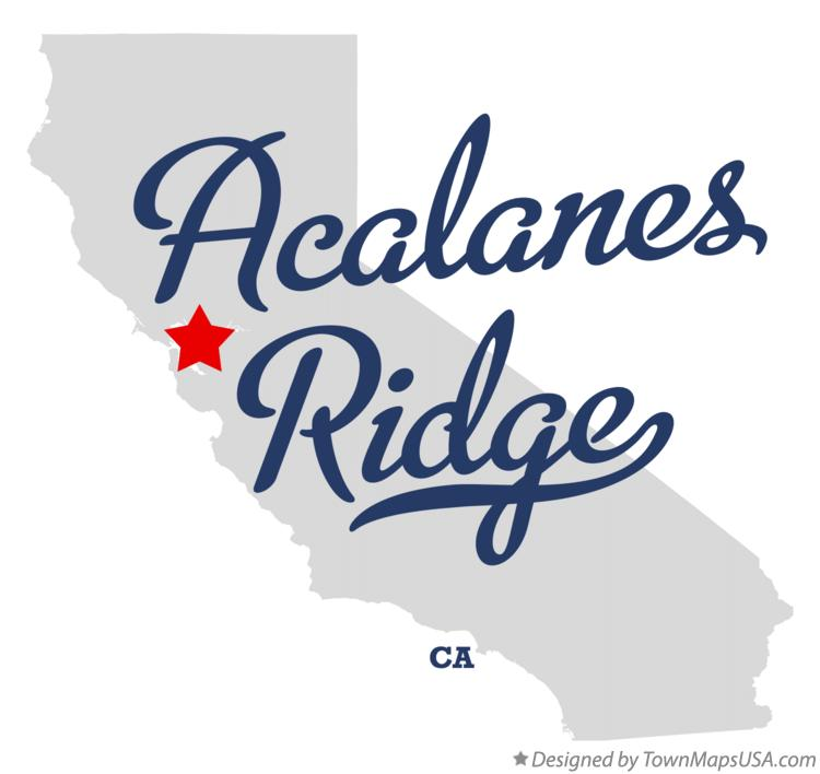 Map of Acalanes Ridge California CA