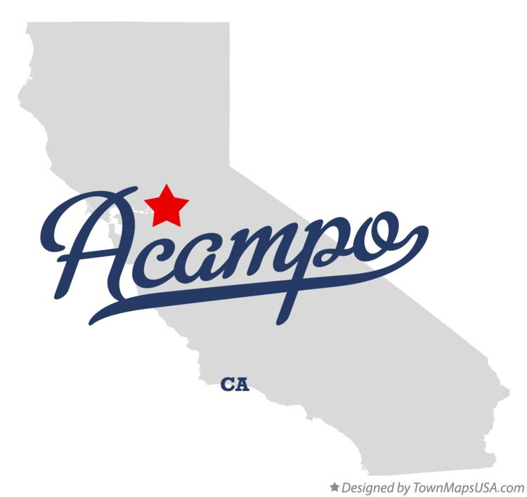 Map of Acampo California CA