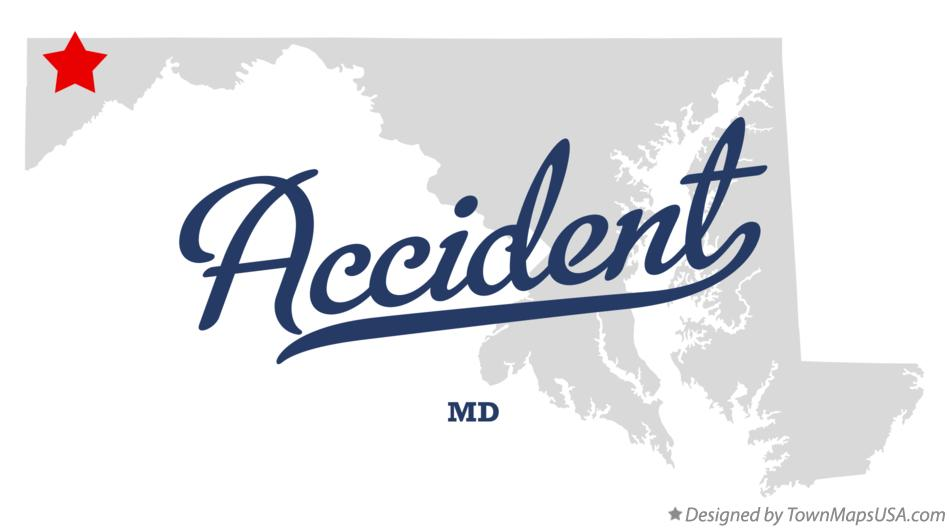 Map of Accident Maryland MD