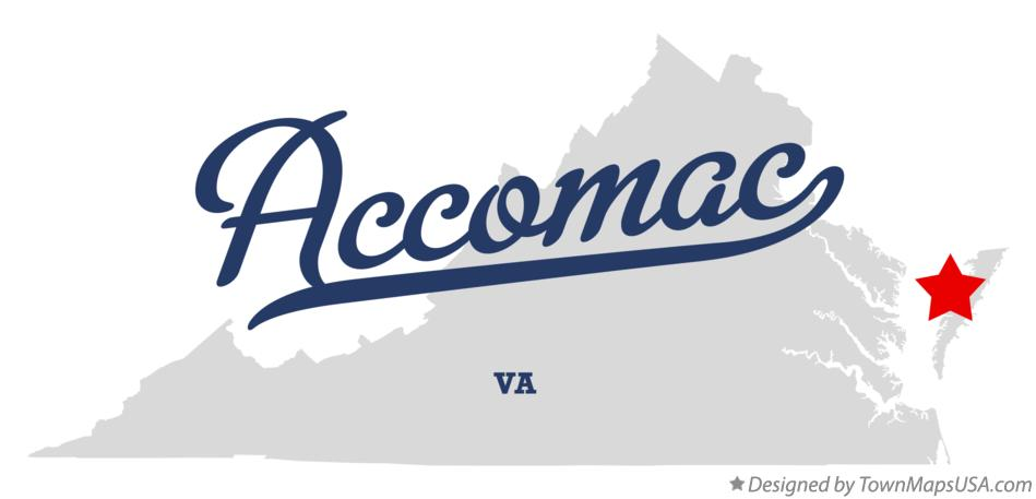 Map of Accomac Virginia VA