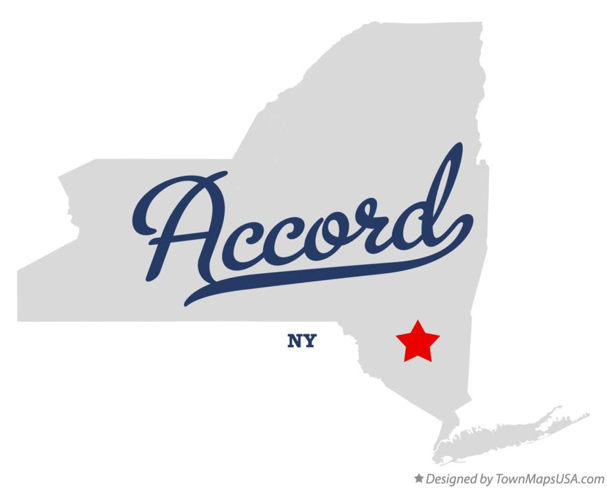 Map of Accord New York NY