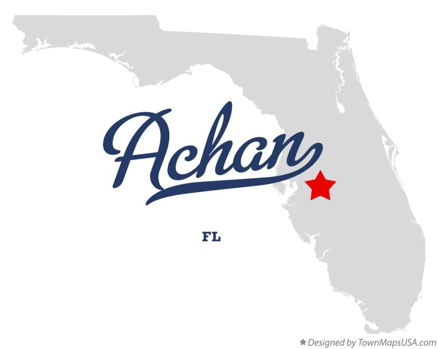 Map of Achan Florida FL