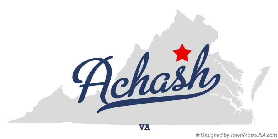 Map of Achash Virginia VA