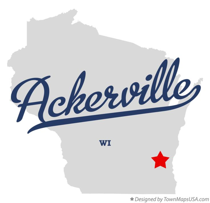 Map of Ackerville Wisconsin WI