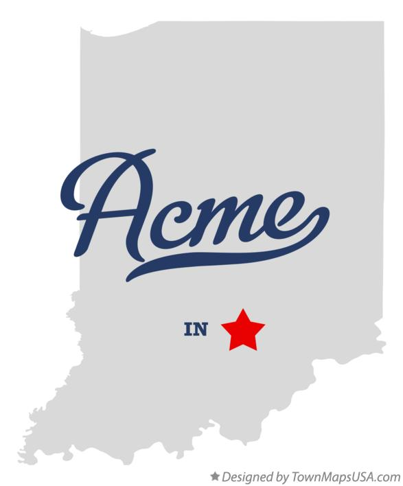 Map of Acme Indiana IN