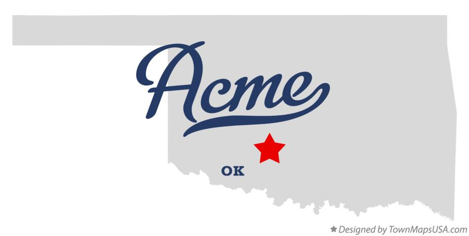 Map of Acme Oklahoma OK