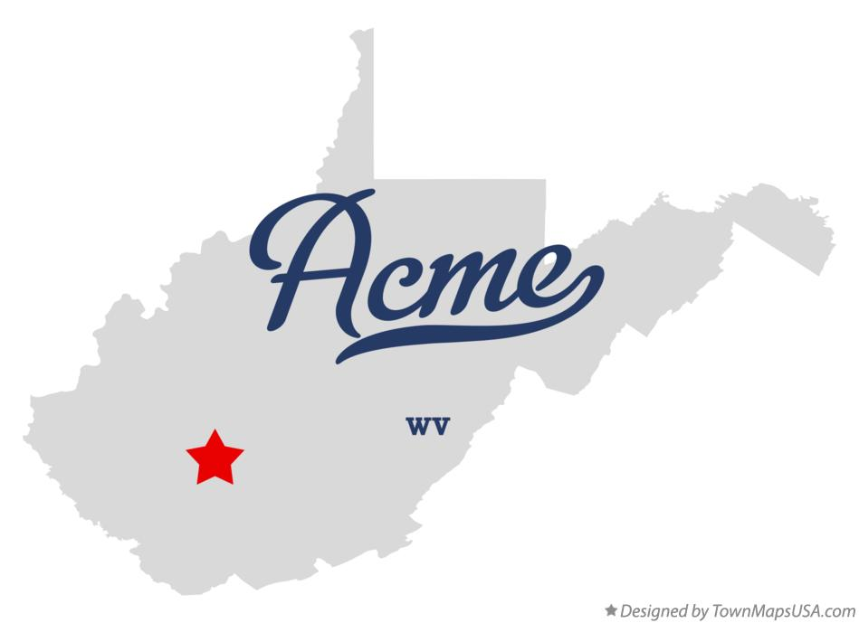Map of Acme West Virginia WV