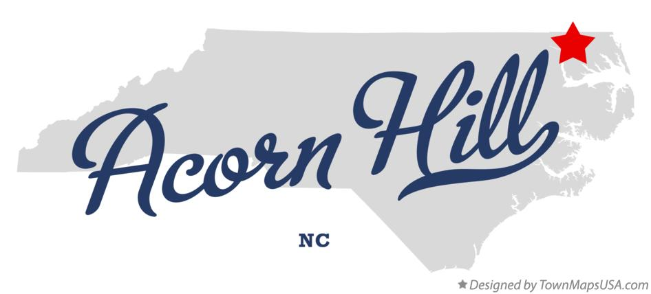 Map of Acorn Hill North Carolina NC