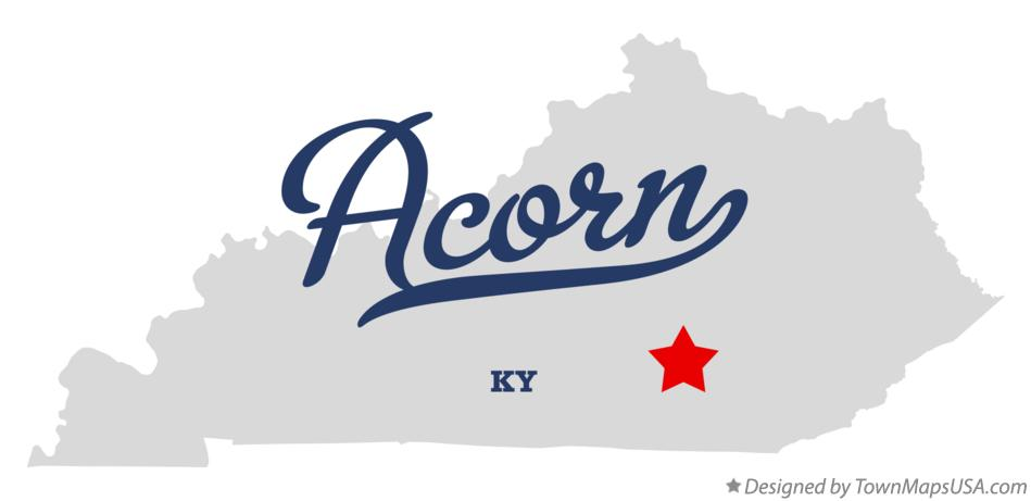 Map of Acorn Kentucky KY