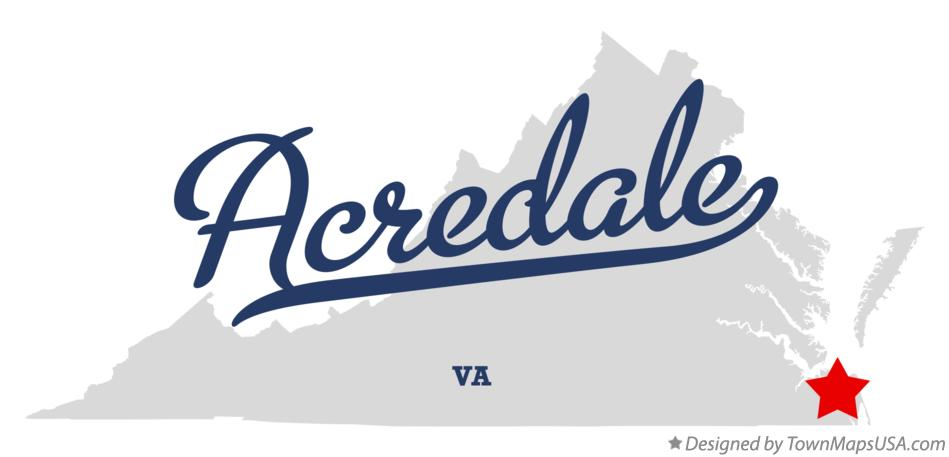 Map of Acredale Virginia VA