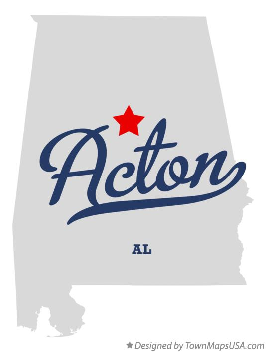 Map of Acton Alabama AL