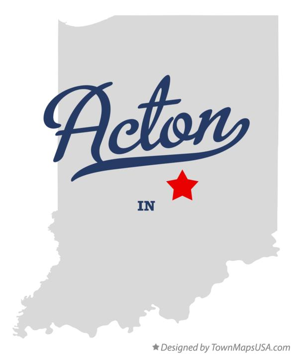 Map of Acton Indiana IN