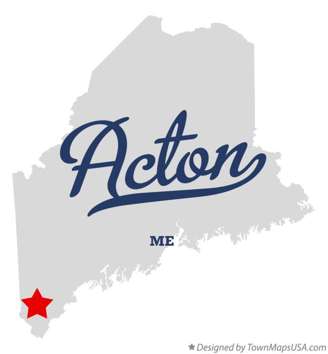 Map of Acton Maine ME