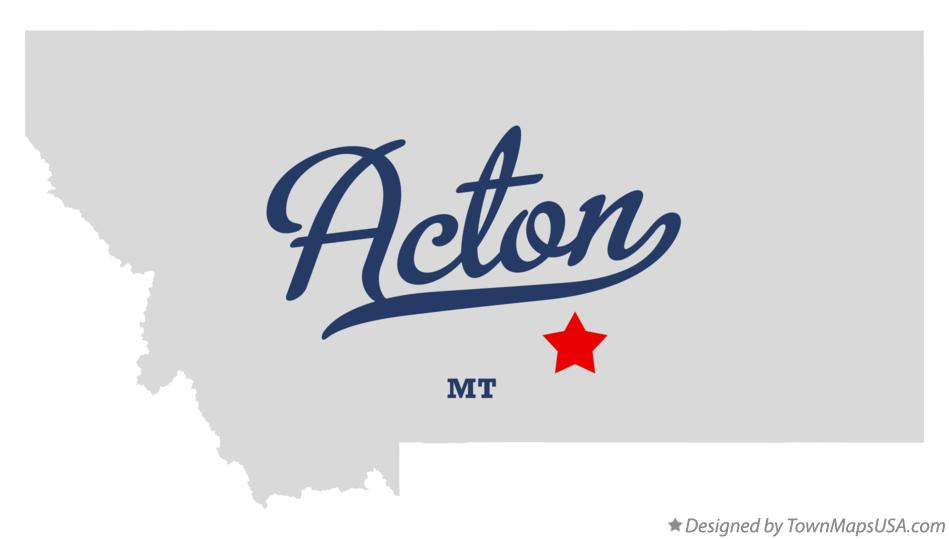 Map of Acton Montana MT