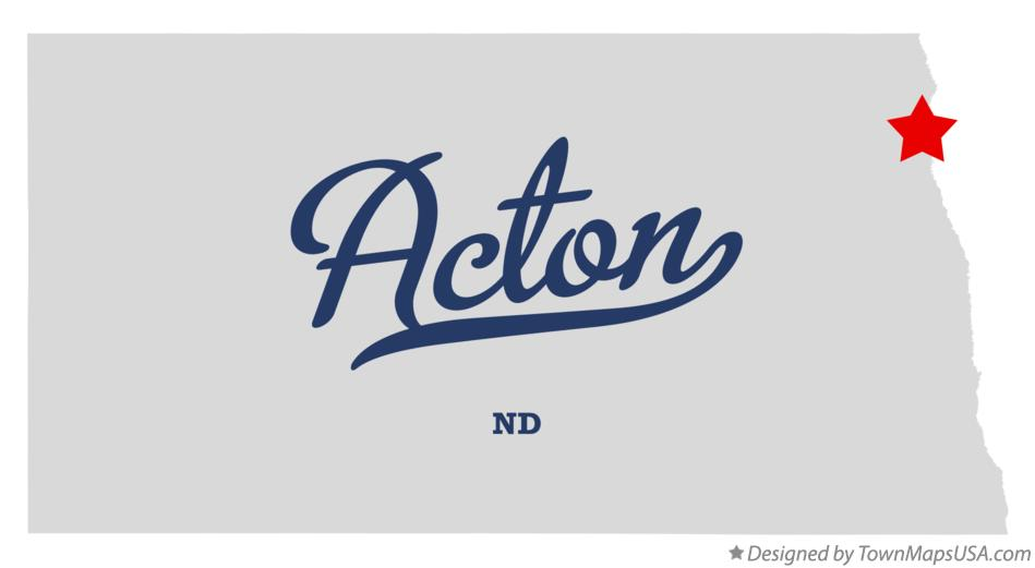 Map of Acton North Dakota ND