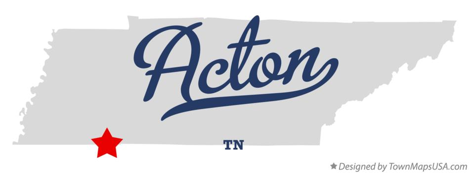 Map of Acton Tennessee TN