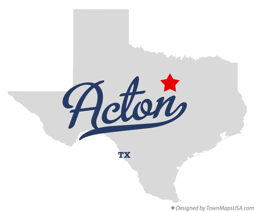 Map of Acton Texas TX