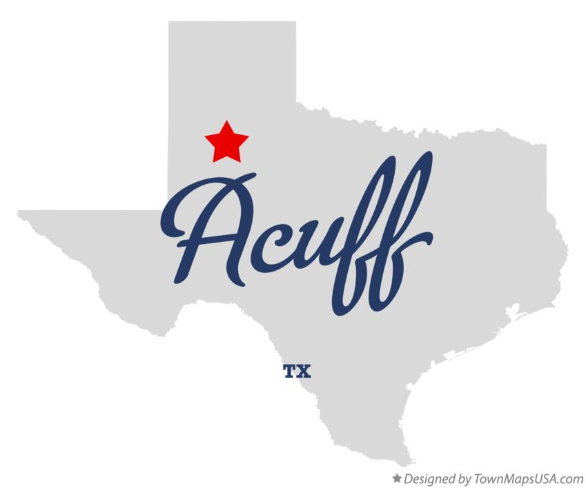 Map of Acuff Texas TX