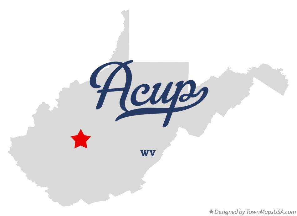 Map of Acup West Virginia WV