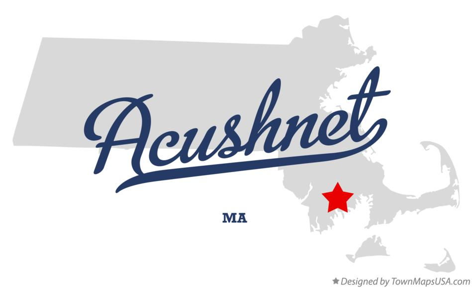 Map of Acushnet Massachusetts MA