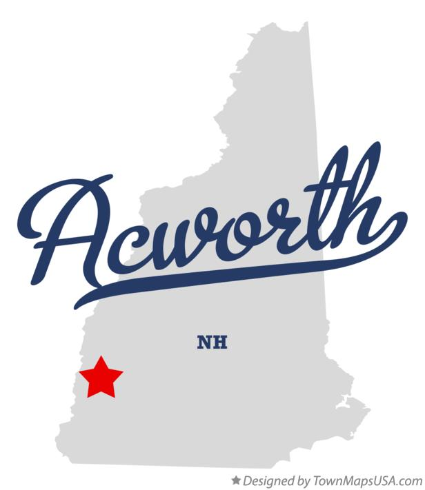 Map of Acworth New Hampshire NH