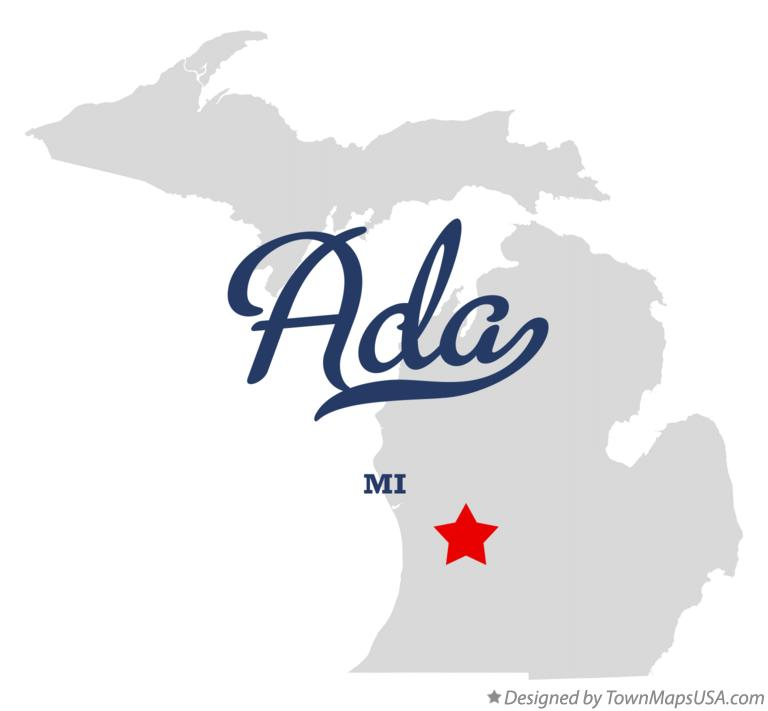 Map of Ada, MI, Michigan
