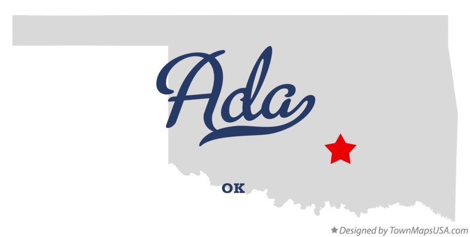 Ada Oklahoma Map Map of Ada Oklahoma ok