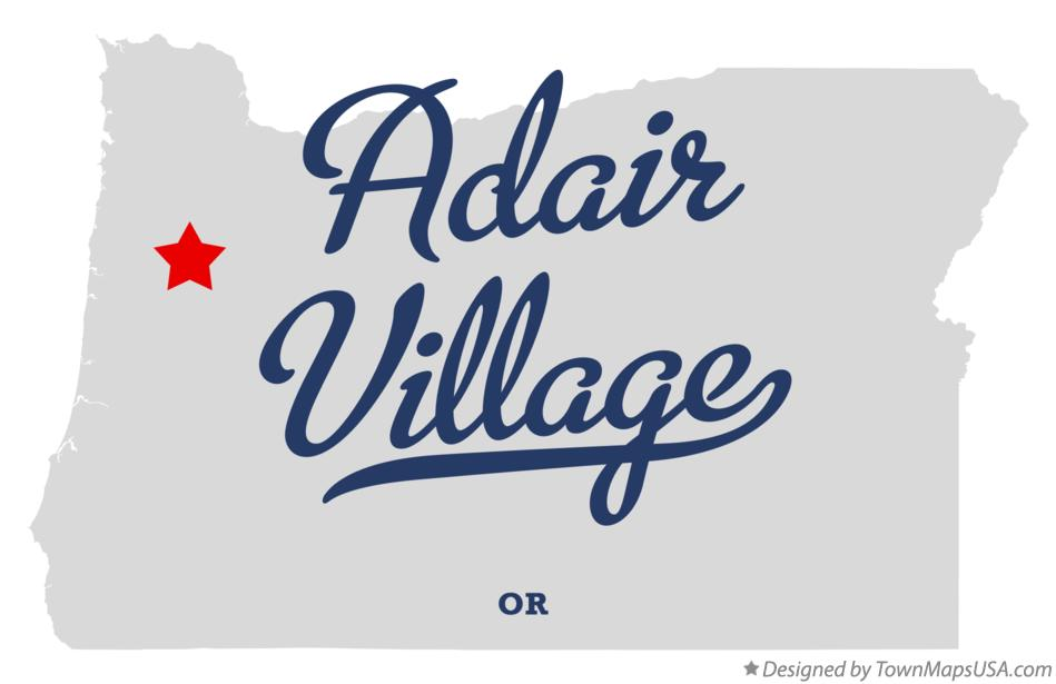 Map of Adair Village Oregon OR